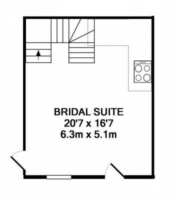 Dryden cottages floorplan, downstairs.