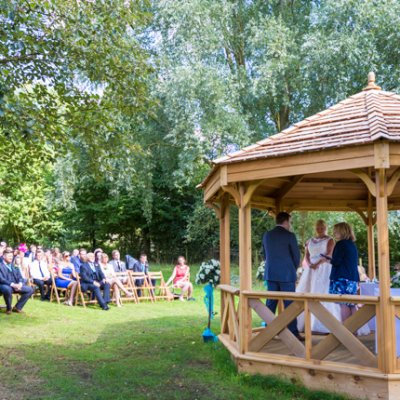 Seat up to 200 guests and let them watch you tie the knot in our Orchard Pavilion, here at Crockwell Farm in Northamptonshire.