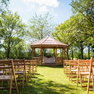Crockwell farm wedding venue's orchard pavilion.