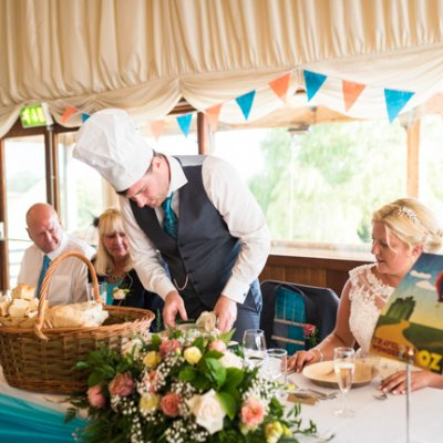 The hugely popular picnic baskets, perfect for a light but tasty summer wedding breakfast.