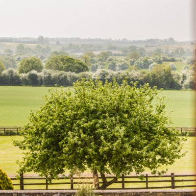 A room with a view over the stunning Northamptonshire countryside.