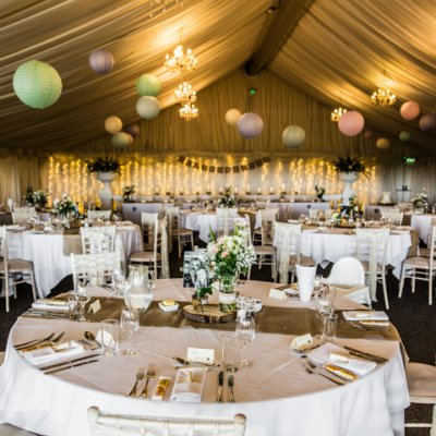 Decorate your tables and the venue the day before your wedding.