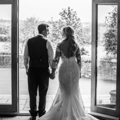 Andy Doherty capturing the beautiful train of Dyanne's dress.