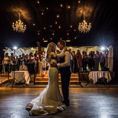 The reveal of the first dance.