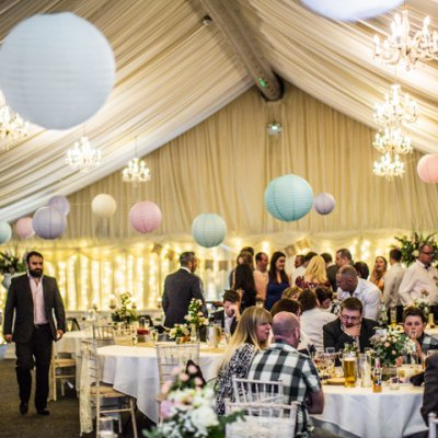 The main marquee offers enough room to seat 200 guests!