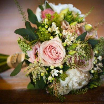Pretty bridal boquet.