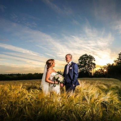 Natalie & Neil in the Barley.