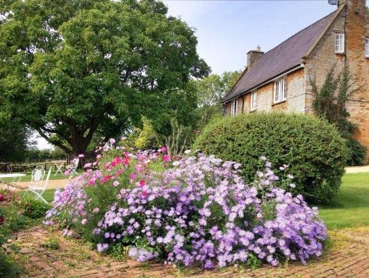 Pretty gardens at Crockwell Farm.