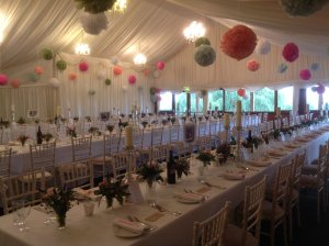 Long banqueting tables create a different typr of floorplan.