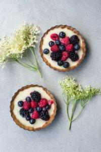 Fruity desserts.