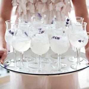 Refreshing reception drinks.
