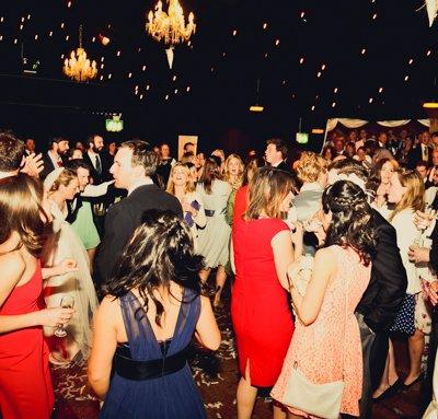Guests enjoy the dance floor.
