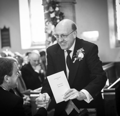 A happy father of the bride.