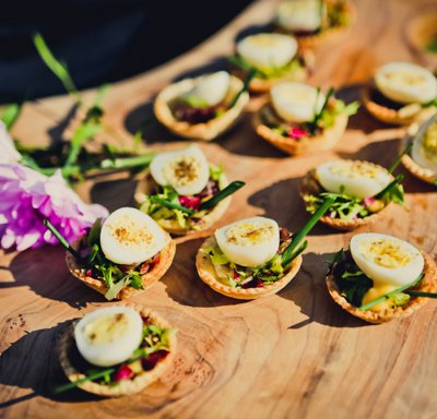 Canapes from The Chopping Block.