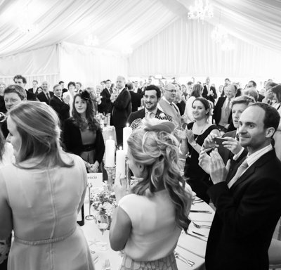 A standing applause for the new Mr & Mrs.