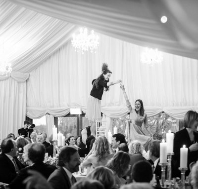 Dancing on the tables!