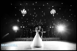 First dance under the star light cloth.