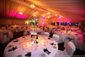 Colourful and dimmable lighting within the main marquee, all included in the price.