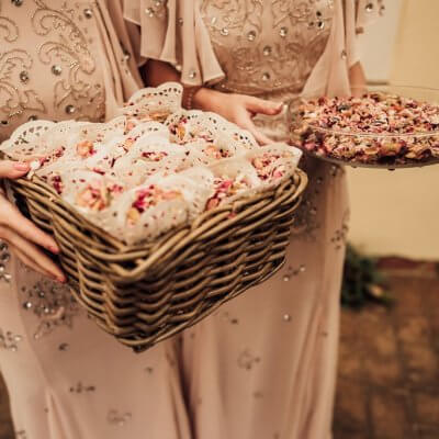 basket full of petals